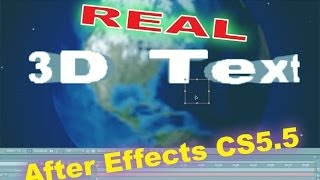 Real 3D Text Like Universal Studios Logo in After Effects CS5.5 Tutorial