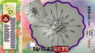 getlinkyoutube.com-DIY Adorno de Pared Reciclado-DIY Wall Ornament Recycling