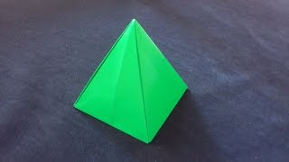 getlinkyoutube.com-Cara Membuat Origami Limas Segi 4 | Origami Bangun Ruang