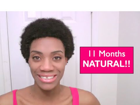 Natural Black Hair Growth Journey- 11 Month Natural post Big Chop (June 2014)