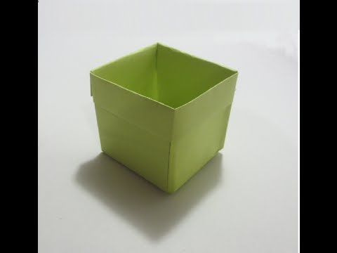 كيف تصنع علبه مكعبه من ورق ?