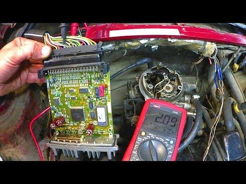 Passat B3 моноинжектор не заводится. Заливает.