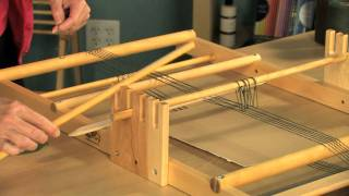 getlinkyoutube.com-How to Warp and Weave on the Schacht Tapestry Loom