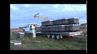 AJ 2006 full load - Beehive crane - Grue ruches - Kran bienenstock - Grua colmenas