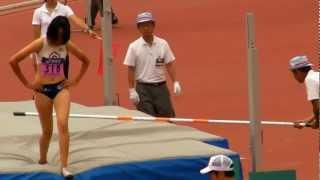 getlinkyoutube.com-女子 走高跳 決勝 日本学生陸上競技個人選手権 2012.6.24