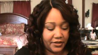 getlinkyoutube.com-Freetress Equal ~BENTLY~ Deep Invisible Part Wig in OMFIRERED