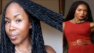 getlinkyoutube.com-Simple Protective Twists (Angela Basset Inspired Braids for Natural, Transitioning & Relaxed Hair)