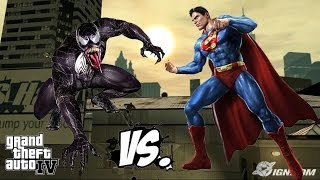 getlinkyoutube.com-SUPERMAN VS VENOM - GREAT BATTLE - GTA IV