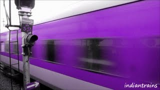 getlinkyoutube.com-indiantrains@ 5 new colours of high speed rajdhani express train / part 1 / vote your choice