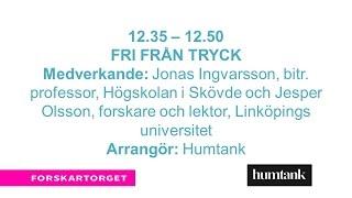 Forskartorget2016 - Fri från tryck