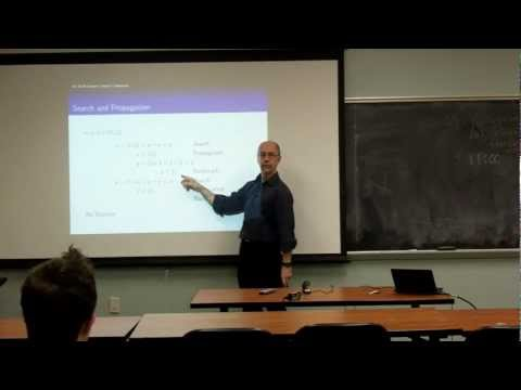 Constraint Programming w/ Dr. Kruk - American University Computer Science Colloquium- 2/8/12
