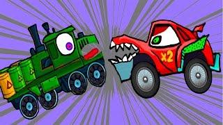 getlinkyoutube.com-Машина Ест Машину - Хищные Машины - ИГРА как мультик Для детей - 2 часть - Серия 4#