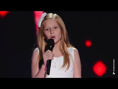 issy sings tomorrow the voice kids australia 2014