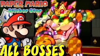 Paper Mario: Sticker Star - All Bosses and Mini-Bosses
