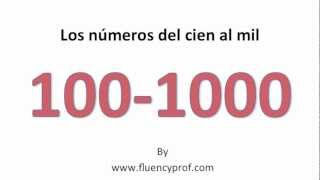 Spanish Numbers from 100 -1000 - YouTube