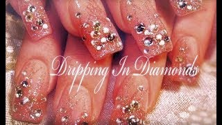 getlinkyoutube.com-Dripping in DIAMONDS | Hot & Sexy DIVA Nail Art Design Tutorial