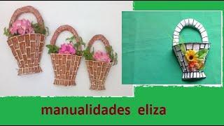 getlinkyoutube.com-canastitas hechas de carton adorno para la pared