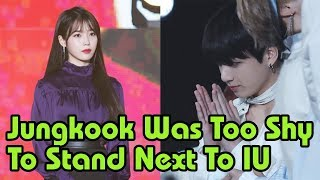 BTS News - 😂Jungkook Was Too Shy To Stand Next To IU 💞At 32nd Golden Disc Awards