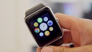 getlinkyoutube.com-Fake Apple Watch For Android? | OUMAX S6 Bluetooth Smartwatch Review!