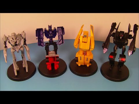 2007 TRANSFORMERS SET OF 4 JOLLIBEE KID'S MEAL MOVIE TOY'S VIDEO REVIEW