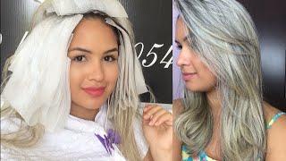 getlinkyoutube.com-Vlog: Retoque das Minhas mechas #BlondHair