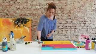 getlinkyoutube.com-Kleines Übungs-Tutorial: Einfache Farbverläufe in Acryl mit dem neuen Pinsel ;) by zAcheR-fineT