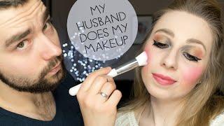 getlinkyoutube.com-My Husband Does My Makeup TAG ♡