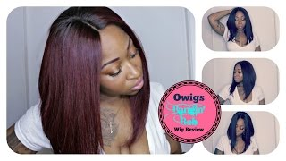 getlinkyoutube.com-Bombshell Red Hair | Fall Long  Bob Lace Wig BOB012 (Start To Finish Tutorial) | Ozowigs  Review