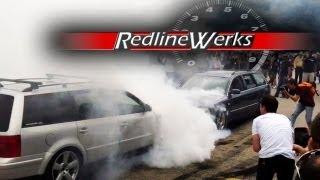 getlinkyoutube.com-Berlin Klassik: Burnout Competition: 2 Volkswagen Passats