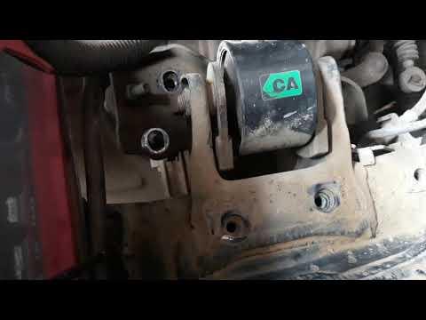 Расположение в Toyota Королла Спасио подушек двигателя