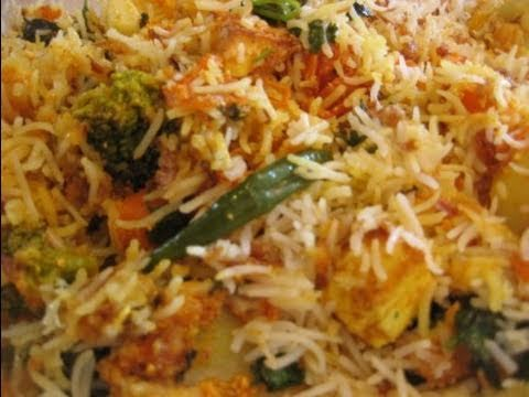 Vegetarian Biryani (VEG) recipe by shebasrecipes.com