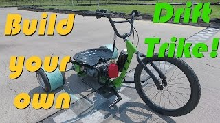 getlinkyoutube.com-125cc 4-Speed Motorized Drift Trike Build
