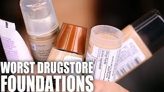 getlinkyoutube.com-WORST DRUGSTORE FOUNDATIONS