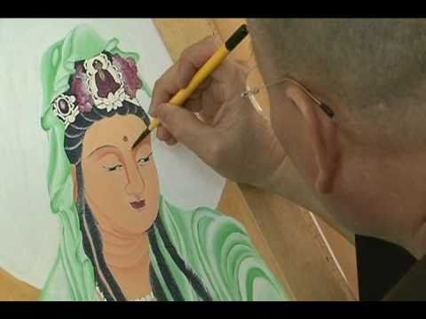 Oil painting of 33 Mercy Buddha, QuanYin, QuanTheAm by Ven. ThichPhuocAn