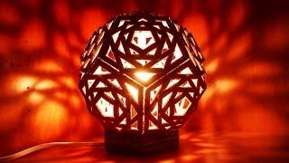 getlinkyoutube.com-美しい幾何学模様のボール紙ランプの作り方 - DIY Home - Guidecentral