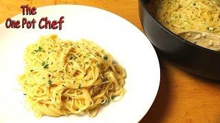 getlinkyoutube.com-One Pot Creamy Garlic Angel Hair Pasta | One Pot Chef