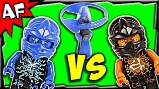 getlinkyoutube.com-Lego Ninjago JAY vs COLE Airjitzu Battle & Review 70740