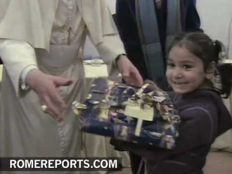 Days after attack  Pope Benedict XVI visits soup kitchen