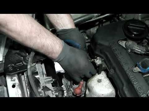Nissan Sunny 1999 год двс QG15DE ставим ремень генератора исключая компрессор