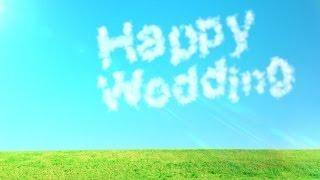 getlinkyoutube.com-[無料のHD動画素材]キレイな空・草原・雲の文字[LOVE/HappyWedding]