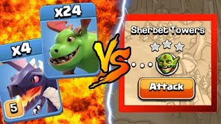 getlinkyoutube.com-Clash Of Clans   BABY DRAGONS & DRAGONS vs SHERBET TOWERS! INSANE GAME PLAY!   NEW MAY 2016 UPDATE!