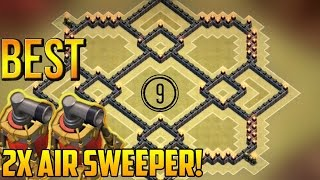 getlinkyoutube.com-Clash of Clans Town Hall 9 (TH9) Best War Base with 2 Air Sweepers [Anti 2 Star] 2015