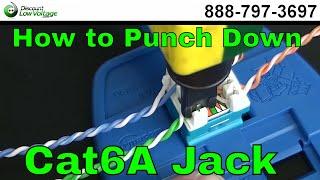 getlinkyoutube.com-How to Punch Down a RJ45 Cat6A Keystone Jack