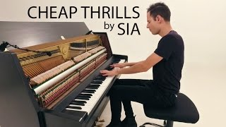 getlinkyoutube.com-Sia - Cheap Thrills | Piano Cover - Peter Bence