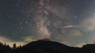 getlinkyoutube.com-星空のある風景 タイムラプス#49 ~ 噴煙と火映と天の川/群馬県嬬恋村浅間山 ~  Starry Night Timelapse #49 星景微速度撮影