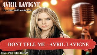 DONT TELL ME   AVRIL LAVIGNE Karaoke