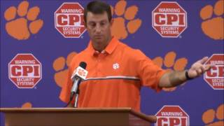 "getlinkyoutube.com-TigerNet.com - Dabo Swinney on national anthem: ""I hate to see what is going on in our country"""