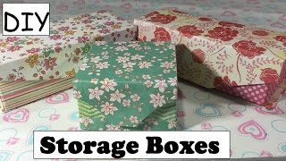 getlinkyoutube.com-DIY Storage Box Using Empty Box/ Cartons Desk Organizer  #10