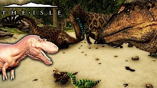 The Isle - ALBERTOSAURUS PREVIEW, GIGA FORCEFULLY ADOPTS CHILDREN & MORE ( Gameplay )
