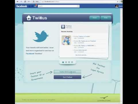 Manage Twitter Updates in your Facebook Timeline via Twittus